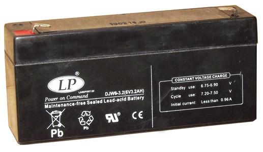 Landport 6V 3,2Ah zselés akkumulátor