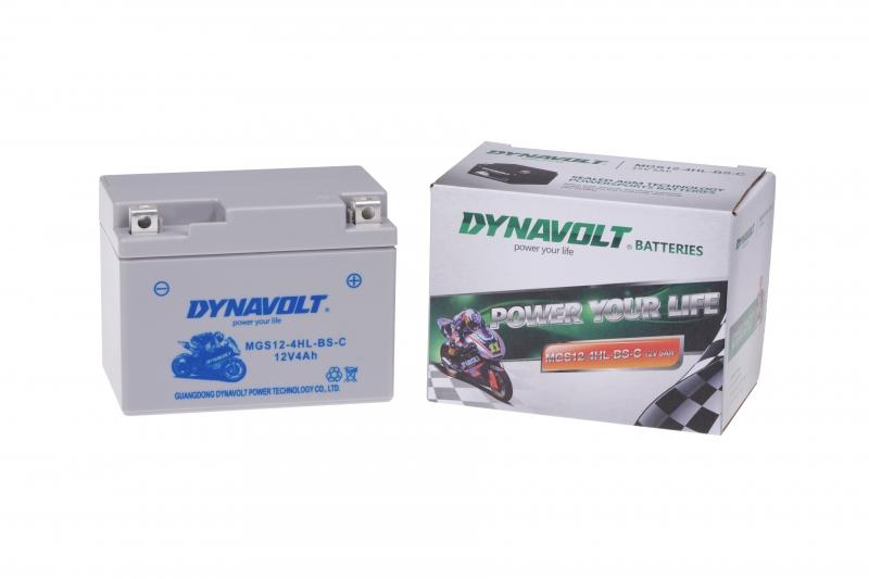 Dynavolt - 12v 4ah - AGM SLA motor akkumulátor - jobb+