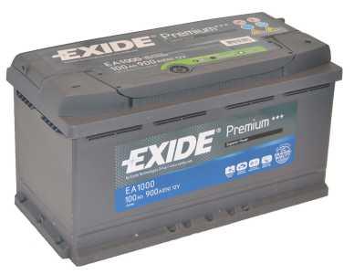 Exide Premium 12 v 105 Ah 850A jobb + akkumulátor