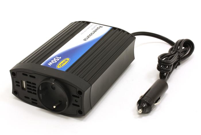 Inverter 150 W USB csatlakozóval 12V-ból 220 V