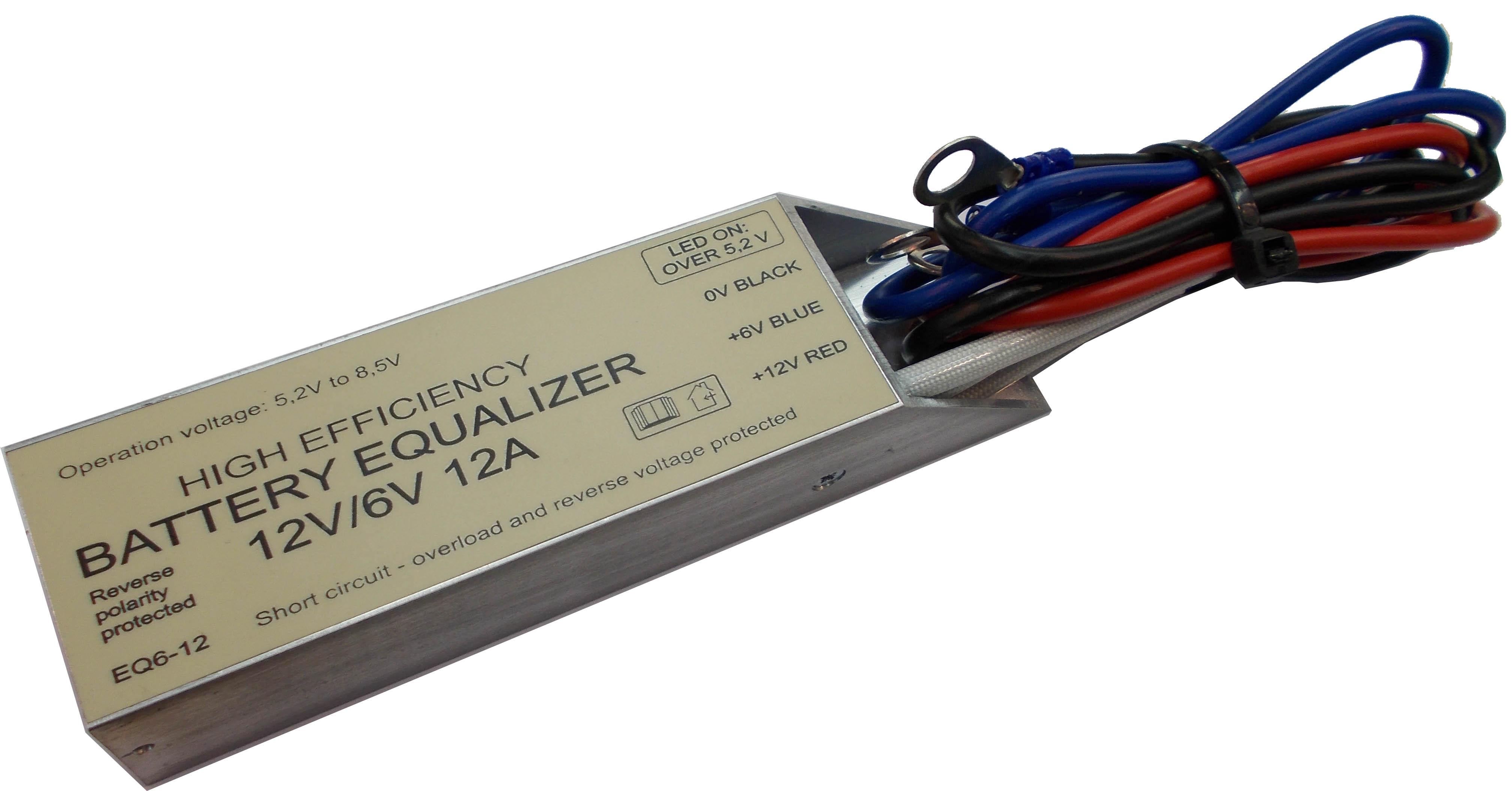 Akkumulátor szimmetrizáló 6V/12A