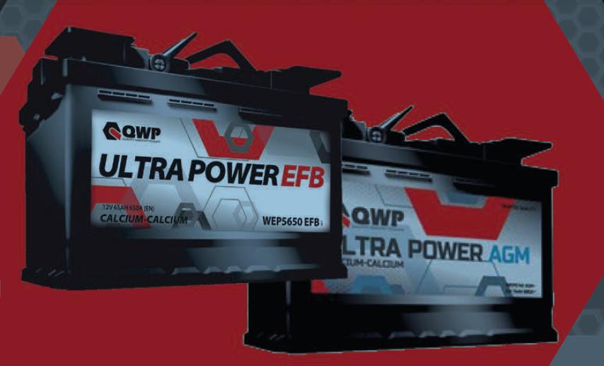 QWP Ultra 12V  60 Ah EFB jobb + normál START STOP autó akkumulátor