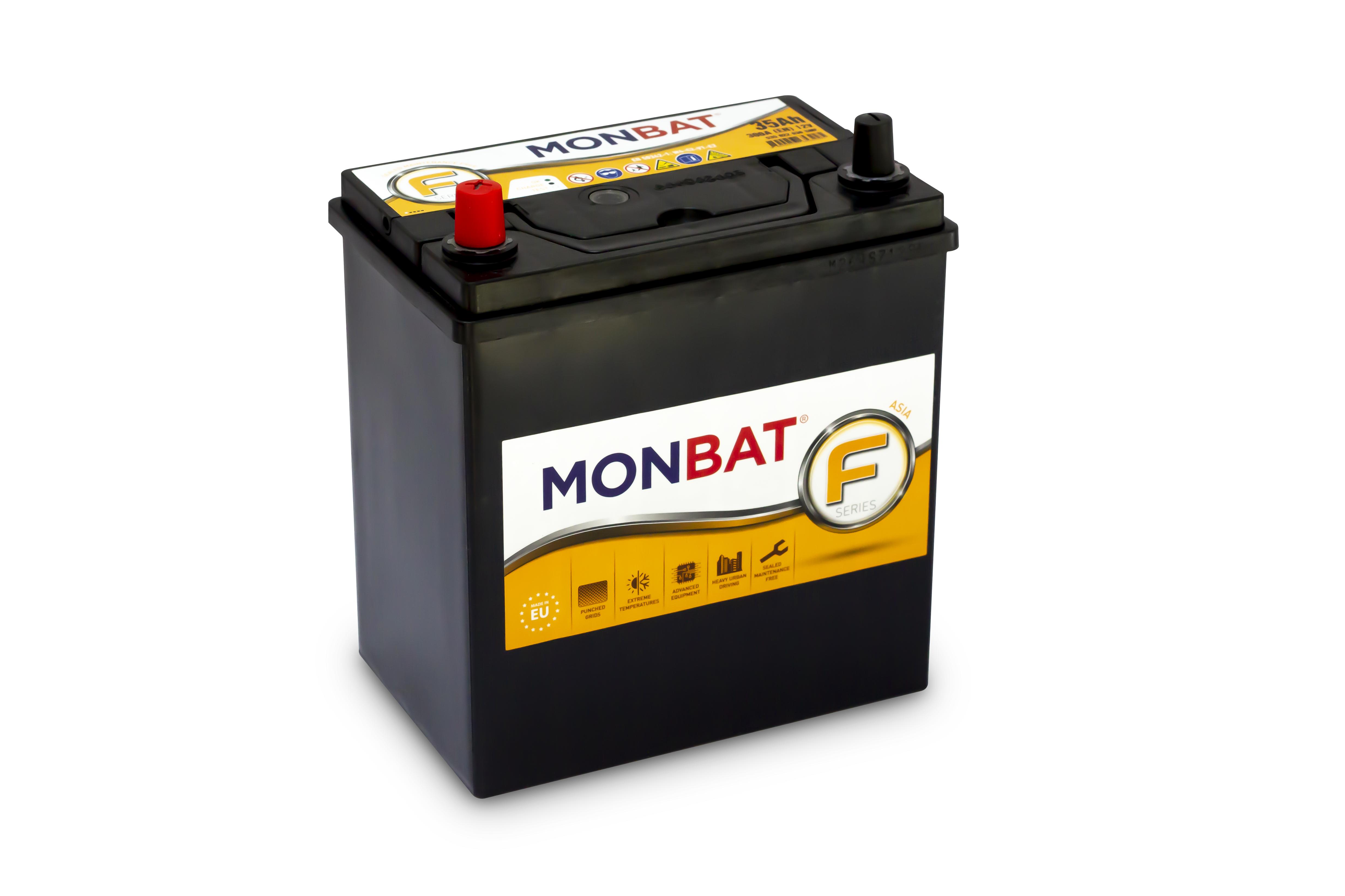 MONBAT FORMULA ASIA   12V  35 Ah  BAL +  vékony autó akkumulátor