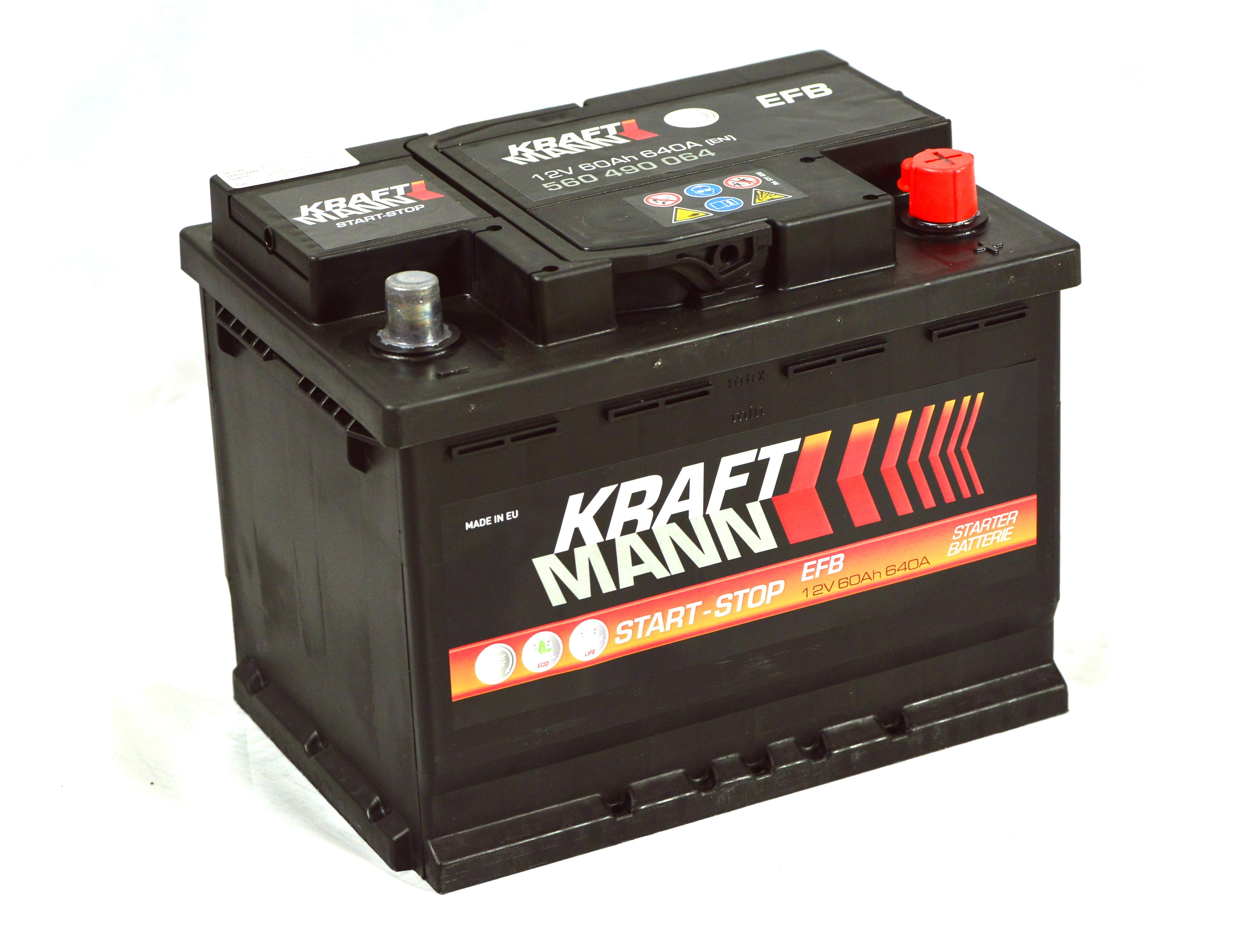 Kraftmann-EFB--12v-60ah-jobb-start-stop--auto-akkumulator-