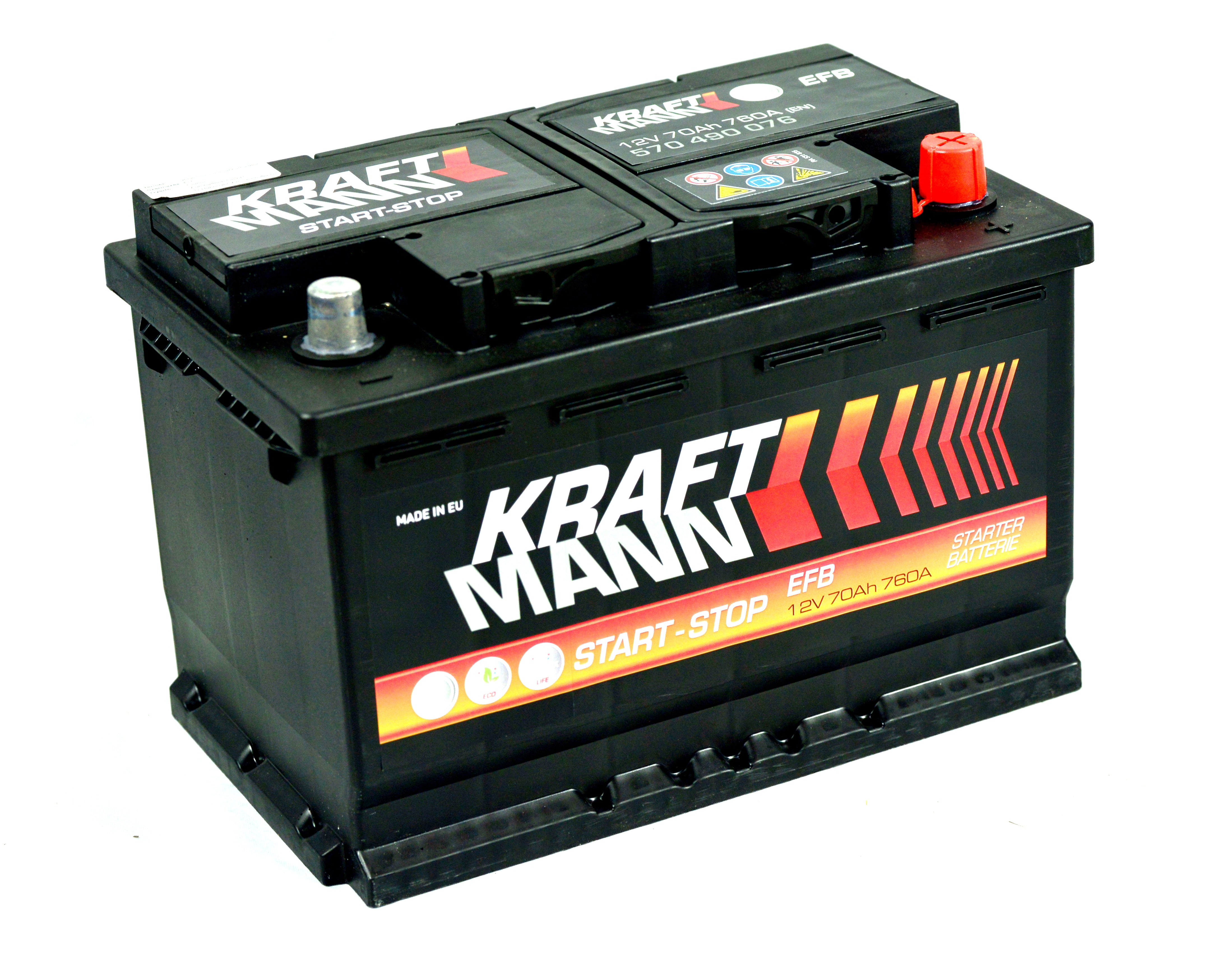 Kraftmann-EFB--12v-70ah-jobb--start-stop--auto-akkumulator-