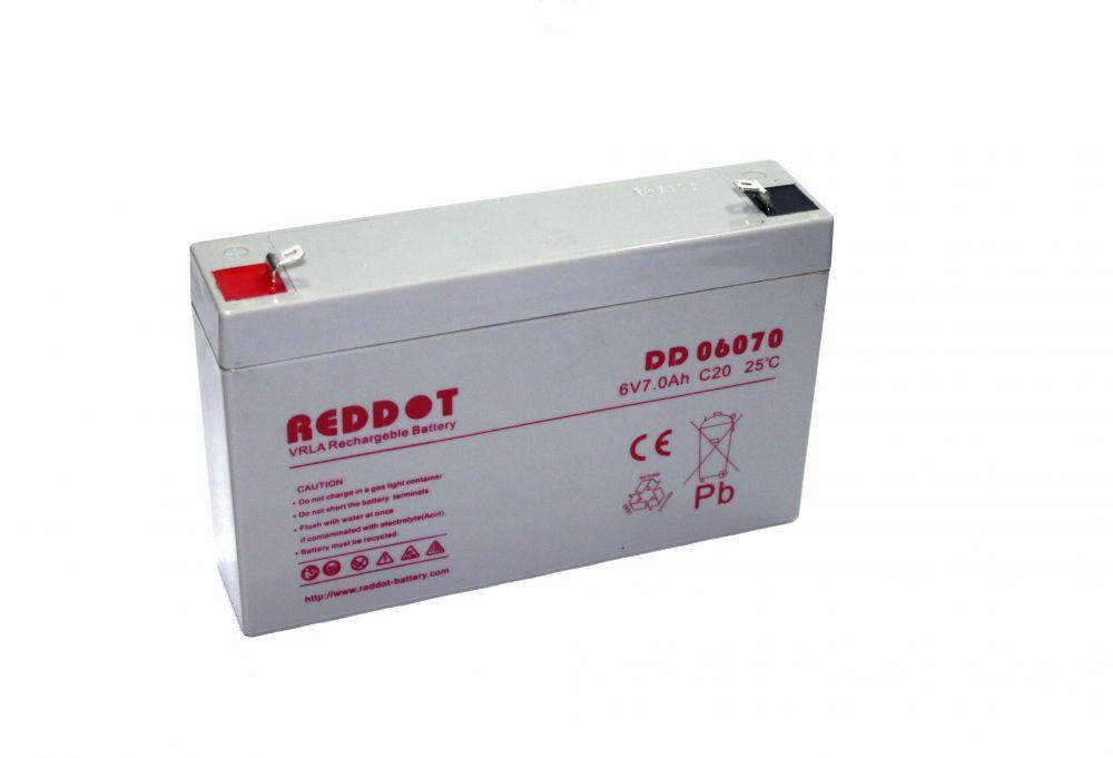 Reddot  6V  1,2 Ah   Kerékpár és UPS akkumulátor